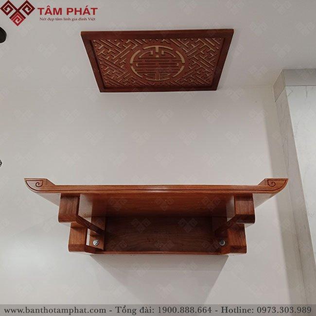 Bàn thờ treo gỗ Hương đá cao cấp mẫu TT2036 Tâm Phát