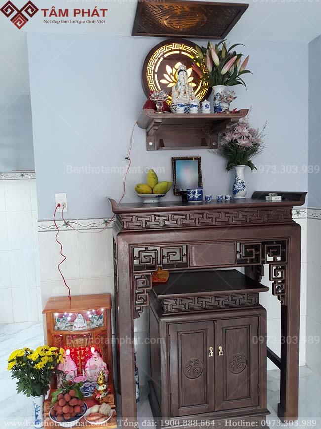 Bàn thờ Phật Quan Âm sử dụng mẫu TT2041