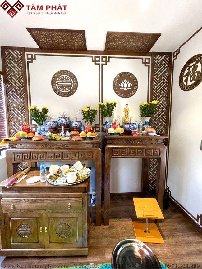 Mẫu bàn thờ Phật BT-1106 được nhiều gia chủ lựa chọn