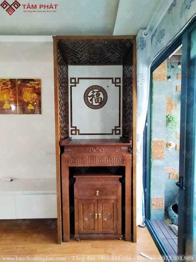 Bàn thờ gỗ Sồi được nhiều gia chủ sử dụng