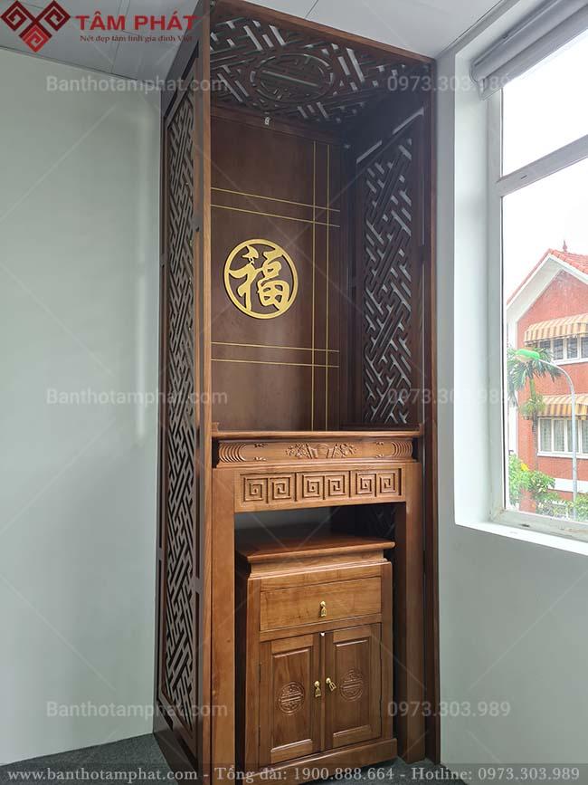 Bàn thờ gỗ Sồi thiết kế đơn giản