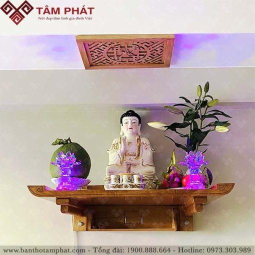 Bàn thờ Phật treo tường làm bằng gỗ Hương đá cao cấp