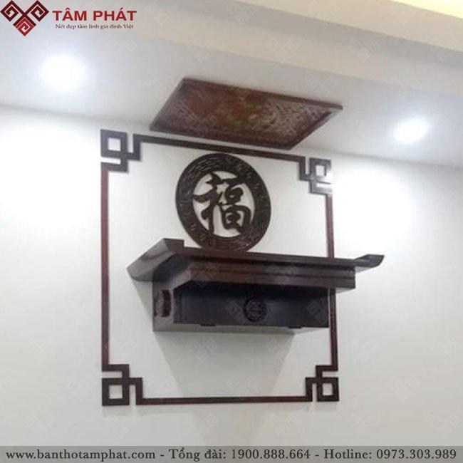 Kiểu bàn thờ phong cách hiện đại treo tường