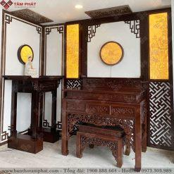 Mẫu phòng thờ Phật và gia tiên mẫu BT-1129