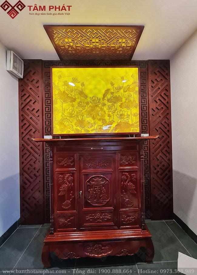 Tủ thờ đẹp Tâm Phát thi công hoàn thiện cho khách hàng